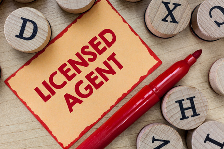 Text sign showing Licensed Agent. Conceptual photo Authorized and Accredited seller of insurance policies.