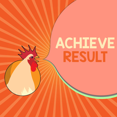 Conceptual hand writing showing Achieve Result. Business photo showcasing Accomplishment Attain Bring to a successful conclusion.