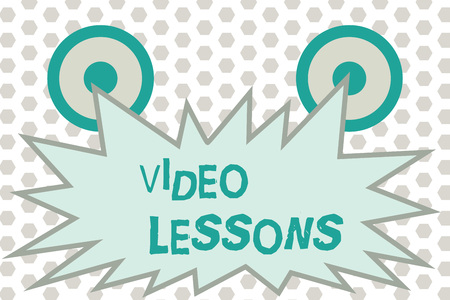 Word writing text Video Lessons. Business concept for Online Education material for a topic Viewing and learning.