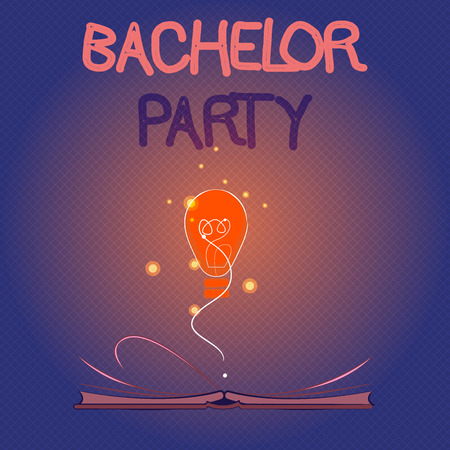 Conceptual hand writing showing Bachelor Party. Business photo showcasing Party given for a man who is about to get married Stag night.