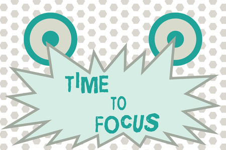 Word writing text Time To Focus. Business concept for Give full attention to something or activity Key to success.