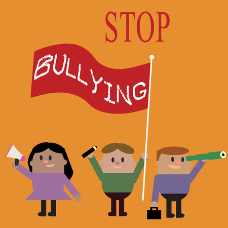 Conceptual hand writing showing Stop Bullying. Business photo text Fight and Eliminate this Aggressive Unacceptable Behavior.