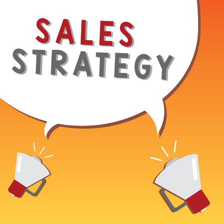 Writing note showing Sales Strategy. Business photo showcasing Plan for reaching and selling to your target market Marketing.
