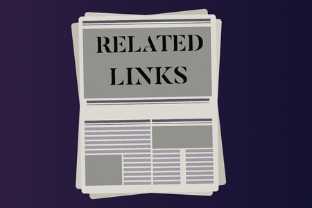 Word writing text Related Links. Business concept for Website inside a Webpage Cross reference Hotlinks Hyperlinks.