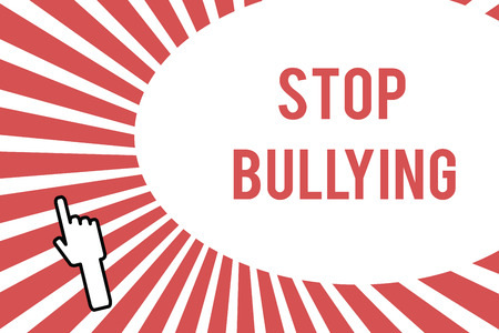 Conceptual hand writing showing Stop Bullying. Business photo showcasing Fight and Eliminate this Aggressive Unacceptable Behavior.