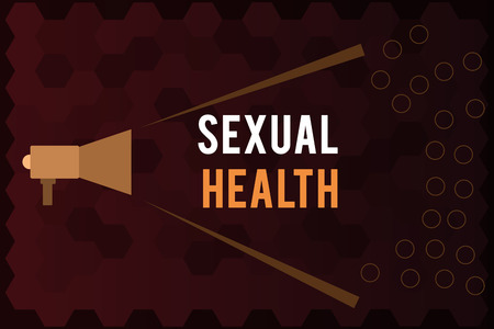 Handwriting text Sexual Health. Concept meaning Healthier body Satisfying Sexual life Positive relationships.