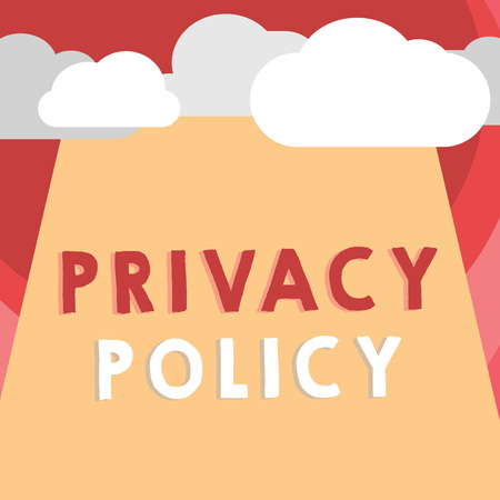 Handwriting text writing Privacy Policy. Concept meaning Document that explains how an organization handles clients. Stock fotó