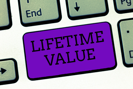Conceptual hand writing showing Lifetime Value. Business photo text Worth of the customer over the lifetime of the business.