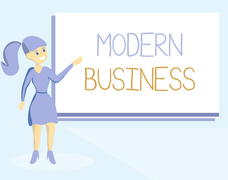 Word writing text Modern Business. Business concept for Introduction to the philosophy of large corporate enterprise.