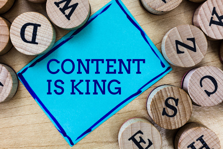 Word writing text Content Is King. Business concept for Content is the heart of today s marketing strategies.