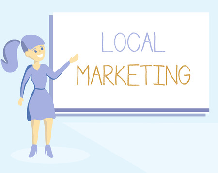 Word writing text Local Marketing. Business concept for A local business where a product buy and sell in area base. Stock Photo
