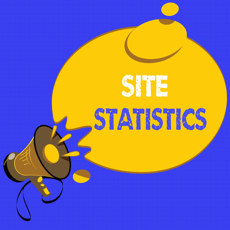 Handwriting text writing Site Statistics. Concept meaning measurement of behavior of visitors to certain website. Фото со стока