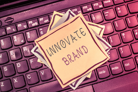Text sign showing Innovate Brand. Conceptual photo significant to innovate products, services and more.