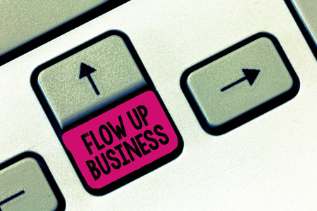 Text sign showing Flow Up Business. Conceptual photo money that is moving in and out of your companies.