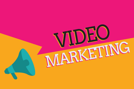 Text sign showing Video Marketing. Conceptual photo create short videos about specific topics using articles. 스톡 콘텐츠