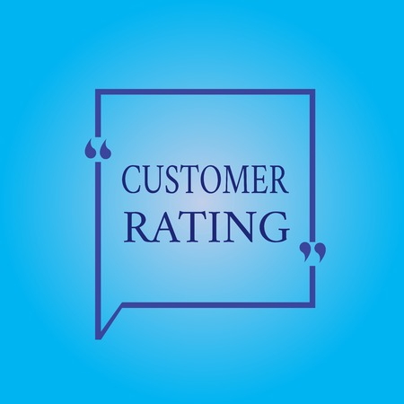 Writing note showing Customer Rating. Business photo showcasing Each point of the customers enhances the experience. Reklamní fotografie