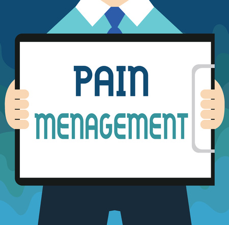 Handwriting text Pain Management. Concept meaning a branch of medicine employing an interdisciplinary approach. Stock Photo - 107898401