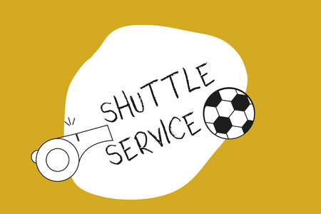 Handwriting text Shuttle Service. Concept meaning vehicles like buses travel frequently between two places. Reklamní fotografie