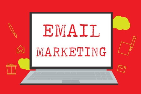 Text sign showing Email Marketing. Conceptual photo Sending a commercial message to a group of people using mail.