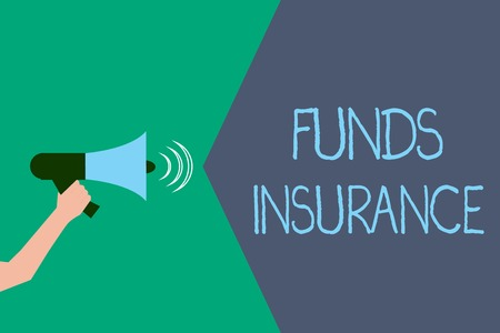 Writing note showing Funds Insurance. Business photo showcasing Form of collective investment offered an assurance policies.