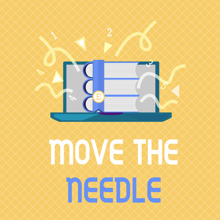 Word writing text Move The Needle. Business concept for Make a noticeable difference in something do better.