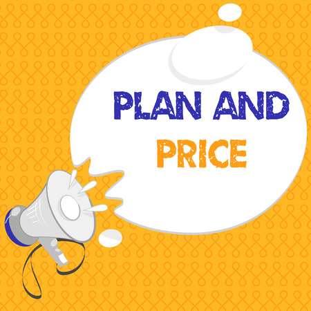 Handwriting text Plan And Price. Concept meaning setting decent price for product to sale according market.