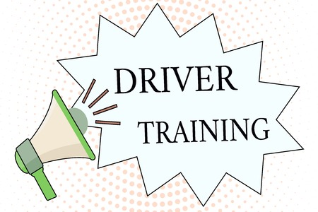 Word writing text Driver Training. Business concept for prepares a new driver to obtain a drivers license.