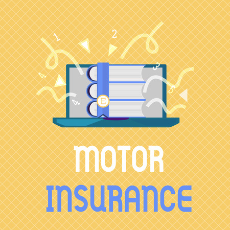 Word writing text Motor Insurance. Business concept for Provides financial compensation to cover any injuries. Stock Photo