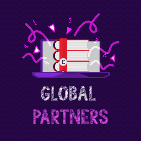Handwriting text Global Partners. Concept meaning Two or more firms from different countries work as a team. 版權商用圖片