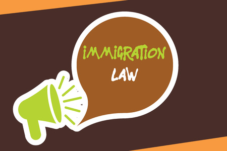 Conceptual hand writing showing Immigration Law. Business photo showcasing Emigration of a citizen shall be lawful in making of travel.