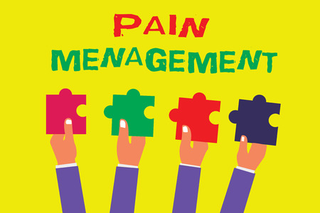 Conceptual hand writing showing Pain Management. Business photo showcasing a branch of medicine employing an interdisciplinary approach.