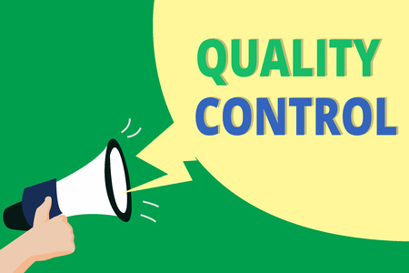 Word writing text Quality Control. Business concept for insure that product or service sold due to standards. Stock Photo
