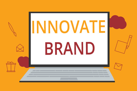 Word writing text Innovate Brand. Business concept for significant to innovate products, services and more.