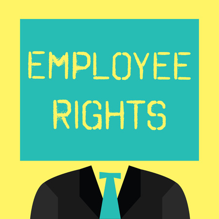 Text sign showing Employee Rights. Conceptual photo All employees have basic rights in their own workplace. Фото со стока - 107867565