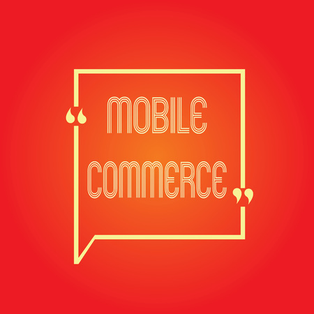 Conceptual hand writing showing Mobile Commerce. Business photo text Using mobile phone to conduct commercial transactions online. Stock Photo