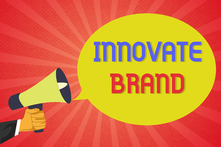 Conceptual hand writing showing Innovate Brand. Business photo text significant to innovate products, services and more.