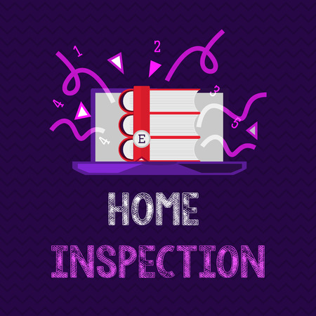 Handwriting text Home Inspection. Concept meaning Examination of the condition of a home related property. Stockfoto