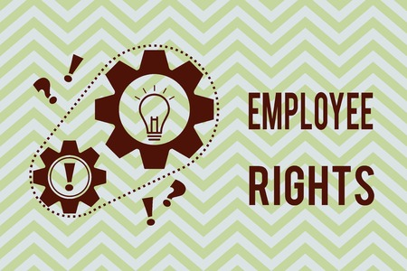 Word writing text Employee Rights. Business concept for All employees have basic rights in their own workplace. Foto de archivo