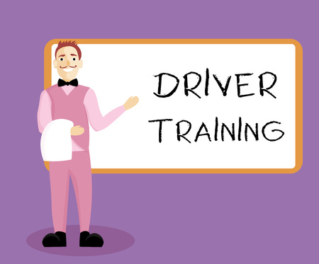 Writing note showing Driver Training. Business photo showcasing prepares a new driver to obtain a drivers license. Stock Photo
