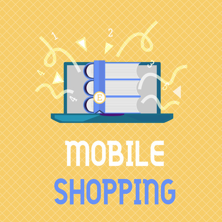 Word writing text Mobile Shopping. Business concept for Buying and selling of goods and services through mobile. Stock Photo
