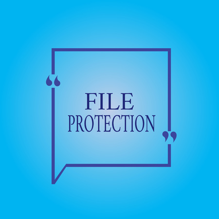 Writing note showing File Protection. Business photo showcasing Preventing accidental erasing of data using storage medium. Фото со стока