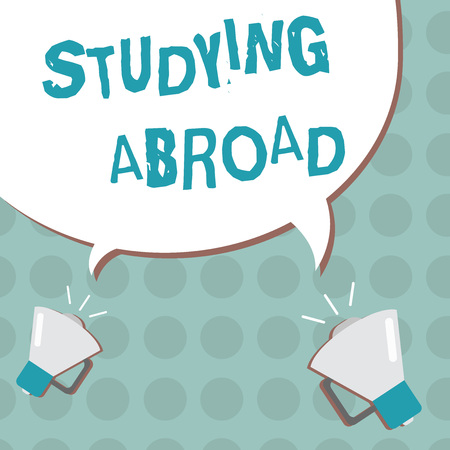 Conceptual hand writing showing Studying Abroad. Business photo text learn outside of home in foreign country Travelling.