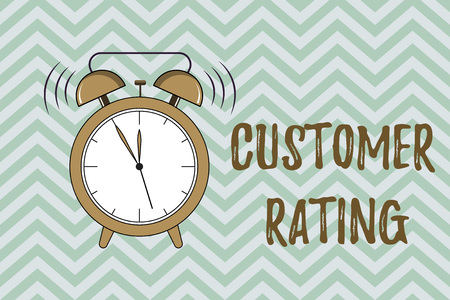 Handwriting text writing Customer Rating. Concept meaning Each point of the customers enhances the experience.