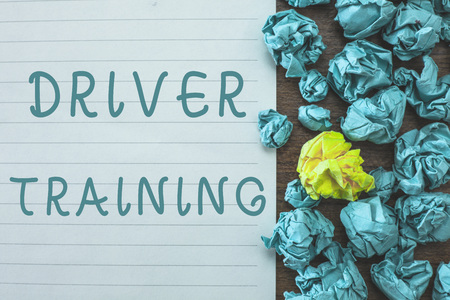 Conceptual hand writing showing Driver Training. Business photo text prepares a new driver to obtain a drivers license. Stock Photo