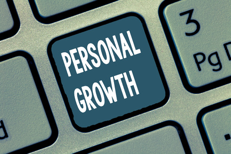 Conceptual hand writing showing Personal Growth. Business photo showcasing improve develop your skills qualities Learn new materials.