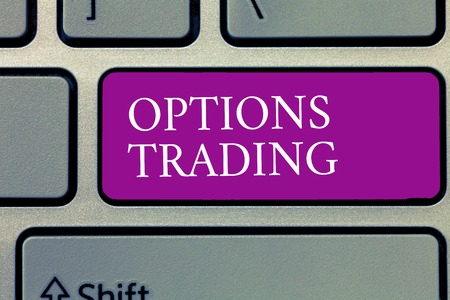 Conceptual hand writing showing Options Trading. Business photo text Different options to make goods or services spread worldwide.