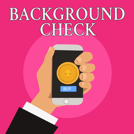 Handwriting text writing Background Check. Concept meaning way to discover issues that could affect your business.