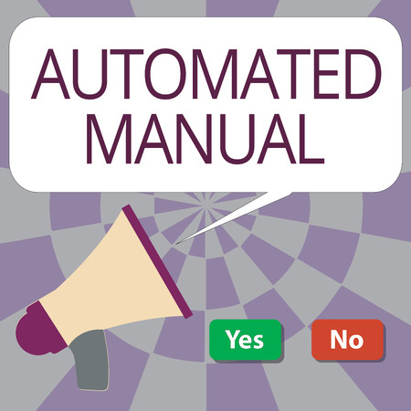 Text sign showing Automated Manual. Conceptual photo as trigger shift and it can switch between moods easily.