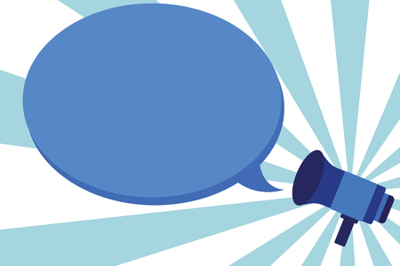 Flaches Designgeschäft Vektor-Illustrationskonzept Leerer Vorlagenraumtext Für Werbewebsite und Werbeanzeige. Megaphon Ankündigung Proklamieren Relais Deklarieren Sprecher Speech Bubble Beschriftung