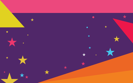 Flat design business Vector Illustration creative concept template copy space text for Ad website promotion esp isolated. Starry Pattern of Scattered Little Stars like Colorful Confetti in the sky